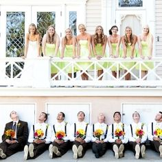 cute wedding party picture idea