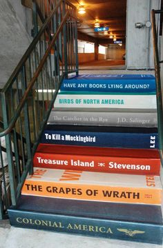 I want to do this!!!  Book staircase
