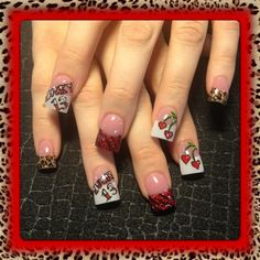 Lucky 13 by Nail Art Gallery nailartgallery.na by Nails Magazine www - The best fashion types in the world fashionlife Nail Art Hacks, Nail Art Diy, Cool Nail Art, Get Nails, Love Nails, Pretty Nails, Cool Nail Designs, Acrylic Nail Designs, Acrylic Nails