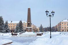 Площадь Свободы, вечный огонь.