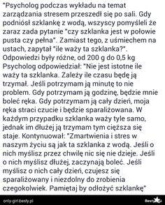 BESTY.pl - Zmartwienia i stres są jak szklanka z wodą