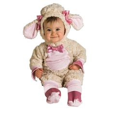 Lamb Costume - Baby, Infant Girl's, Size: 6-12MONTHS, Pink