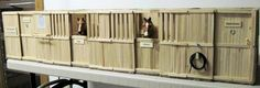 Enchanted Ridge Ranch: Popsicle stick model Horse stalls this is amazing and took a lot of time, patients, and effort!