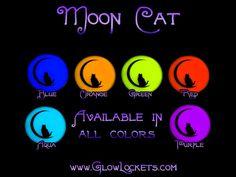 Moon Cat Glow Kitty Pendant by MoniqueLula on Etsy