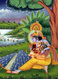 the eternal and powerful love of Radha and Krishna.