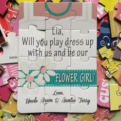 Personalized Will You Be My Flower Girl Puzzle – Blended Designs