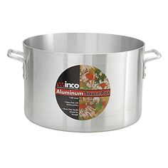 Winco ASSP26 26Quart 146 x 10 Standard Heavy 316 Thick Aluminum Sauce Pot Commercial Grade Stock Pot NSF -- Check out the image by visiting the link.