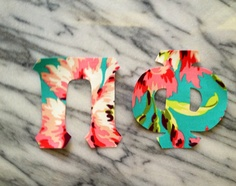 Iron on sorority letters 1 set of Greek Letters in Teal and Pink Floral by GirlieGreek, $4.00