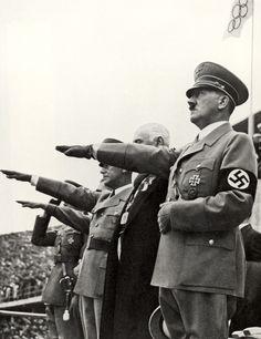 Adolf Hitler en las Olimpíadas de Berlín.