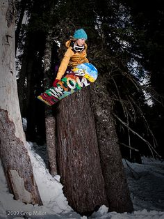 focus goes BETWEEN the trees... Snowboard Photography