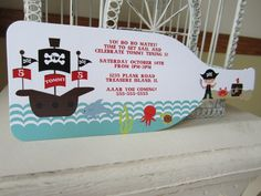 Pirate Birthday Party Invitation -