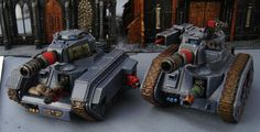 Charon pattern Leman Russ usable as Blood Pact AT70.  Russ hull and turret with chimera sides.