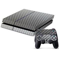 Silver Carbon Fiber Skin - PS4 Protector