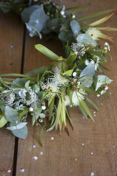 Swallows Nest Farm flowering gum, brunia, leucadendron, peppermint foliage, native flower crown