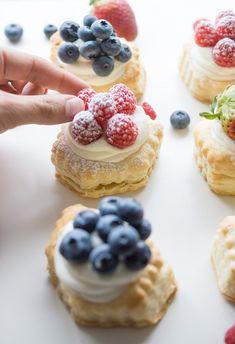 Lemon Cheesecake Puff Pastries