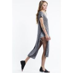 """""""His Golden Muse"""" Side Split Maxi Top Side split maxi top. Available in grey and oatmeal. This listing is for the GREY. Brand new. True to size. NO TRADES. Bare Anthology Tops Tees - Short Sleeve"""