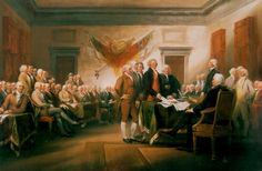 The signing of the Declaration of Independence. Few greater moments have ever taken place in history.