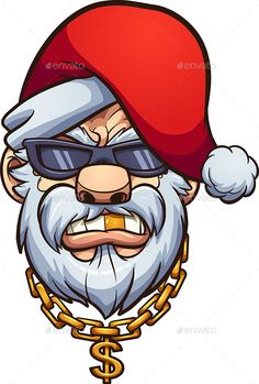 Buy Gangster Santa by memoangeles on GraphicRiver. Gangster Santa Claus with a golden tooth and a golden chain. Vector clip art illustration with simple gradients. Graffiti Cartoons, Graffiti Characters, Art And Illustration, Graffiti Drawing, Graffiti Art, Art Sketches, Art Drawings, Gangster, Merry Christmas Ya Filthy Animal