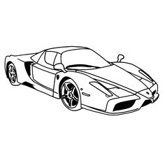 Super Car Ferrari Enzo Coloring Page Cool Printable Free