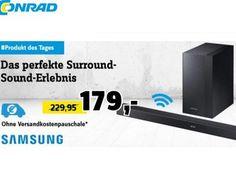 Conrad: Kabellose Soundbar Samsung HW-K450 für 173,45 Euro frei Haus https://www.discountfan.de/artikel/technik_und_haushalt/conrad-kabellose-soundbar-samsung-hw-k450-fuer-173-45-euro-frei-haus.php In anderen Online-Shops kostet die Soundbar Samsung HW-K450 mit kabellosem Subwoofer mindestens 199 Euro plus Versand, bei Conrad ist sie jetzt zum Schnäppchenpreis von 179 Euro frei Haus zu haben – mit einem Gutschein lässt sich der Preis weiter drücken. Conrad: Kabell