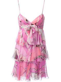 EMILIO PUCCI Layered Ruffle Dress