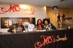 The judges: Pam Ofuegbu, Mai Atafo, Bobby Taylor and Derenle Edun Judges, Bobby, Broadway Shows, Entertaining, In This Moment, Funny