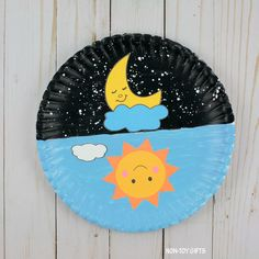 Day And Night Craft For Kids - Sun And Moon Printable - Preschool crafts -