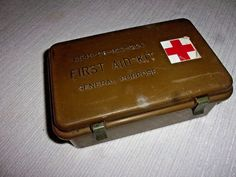 Vintage Military First Aid Kit - Empty and Ready to Restock - Pretty Cool!