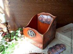 """"""" Золотые фазаны """" короб для мелочей - коричневый,коробка для мелочей"""