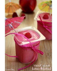 Yaourts glacés fruités, faibles calories recette expresse simple, sans sorbetière Sorbets, Calories, Icing, Container, Pudding, Ice Cream, Fruit, Vegetables, Cooking