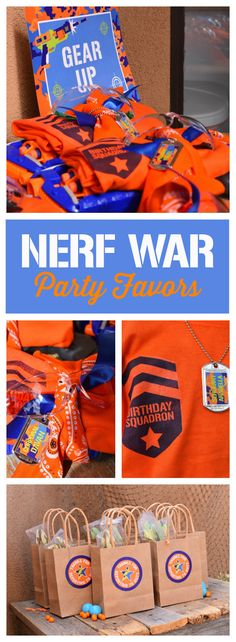 Love these Nerf Birthday party favors Nerf Birthday Party, 11th Birthday, Nerf Party Food, Birthday Ideas, Laser Tag Party, Nerf Gun, Party Ideas, Cake, Entertainment