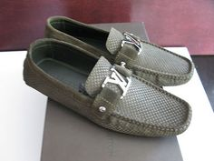 "100% AUTHENTIC LOUIS VUITTON MENS""MONTE CARLO'SHOE/LOAFER SIZE 10.5/11US! NIB!!!"