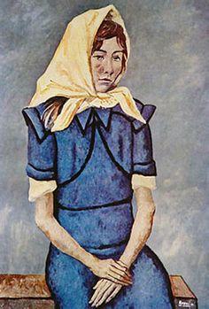 El pañuelo blanco, 1951, óleo s/tela, 113 x 78 cm. Col. privada