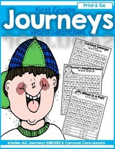 Journeys First Grade Print And Go High Frequency Word (Sight Word) Word Searches Worksheets 1st Grade Spelling, First Grade Sight Words, Teaching Time, Teaching Reading, Learning, Journeys First Grade, Journeys Reading Series, High Frequency Words, First Grade Reading