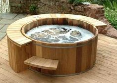 Wine barrel hot tub. I also want to dig one into the ground as a cold plunge.