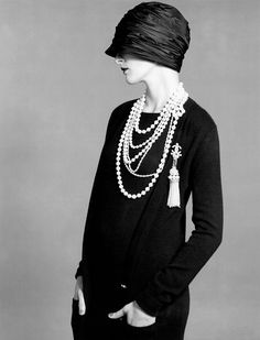 Fashion by Chanel, photographed by Karl Lagerfeld for American Vogue.