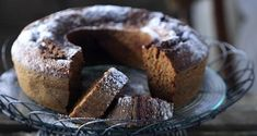 Grape Molasses Spice Cake by Greek chef Akis Petretzikis. An amazing cake made with aromatic spices and grape molasses that adds a whole new depth of flavor! Spice Cake Recipes, Raw Food Recipes, Cooking Recipes, Molasses Cake, Sweetened Whipped Cream, Sandwich Ingredients, Nutrition Chart, Processed Sugar, Serving Plates