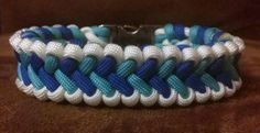 Blue and White Icelandic Dream Bar Survival Bracelet
