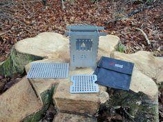 Bushcraft Essentials Hobo Ofen Profi Set. mit Grillplatte