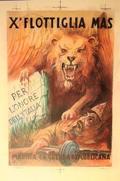 RSI X' Flottiglia MAS propaganda poster - pin by Paolo Marzioli