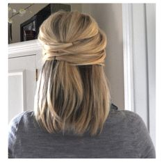 Cute way to pin hair back