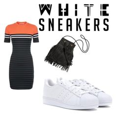 """""""White trainers"""" by alisonboyne ❤ liked on Polyvore featuring T By Alexander Wang and adidas"""