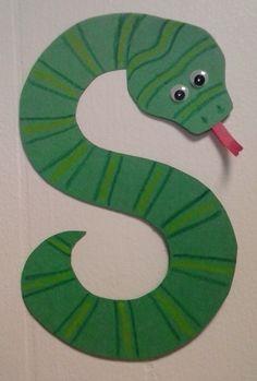 Preschool letter S  //  S is for Snake
