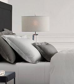 FOR THE HOME || Luxe white, silver & grey Restoration Hardware bedding || NOVELA BRIDE...where the modern romantics play & plan the most stylish weddings... www.novelabride.com (instagram: @novelabride)