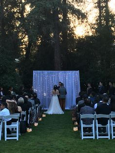 Our twinkle light backdrop was perfect for this Twilight themed outdoor wedding in Pasadena, CA. Wedding Draping, Wedding Ceremony Backdrop, Twinkle Lights Wedding, Pipe And Drape, Sheer Drapes, Sweetheart Table, Flower Wall, Twinkle Twinkle, Corporate Events