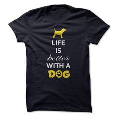Life is Better With a DogWear this cool T-shirt and tell the world that you love dogs. Every Dog lover must wear this.dog, pets, paws, love, hug, keep calm,c alm, keep, better