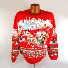Ugly Christmas Sweater Vintage Sweatshirt by purevintageclothing Holiday Tacky