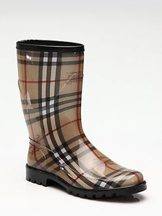 Burberry Rubber Rain Boots $195