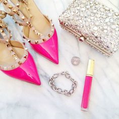 Pink Valentino TheOriginalPrep | I love how so super girly this picture looks. :)