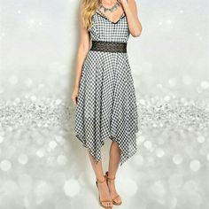 Beautiful Checkered Dress  Dress Dresses Midi